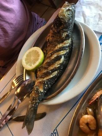 Whole fish at Adega Da Marina